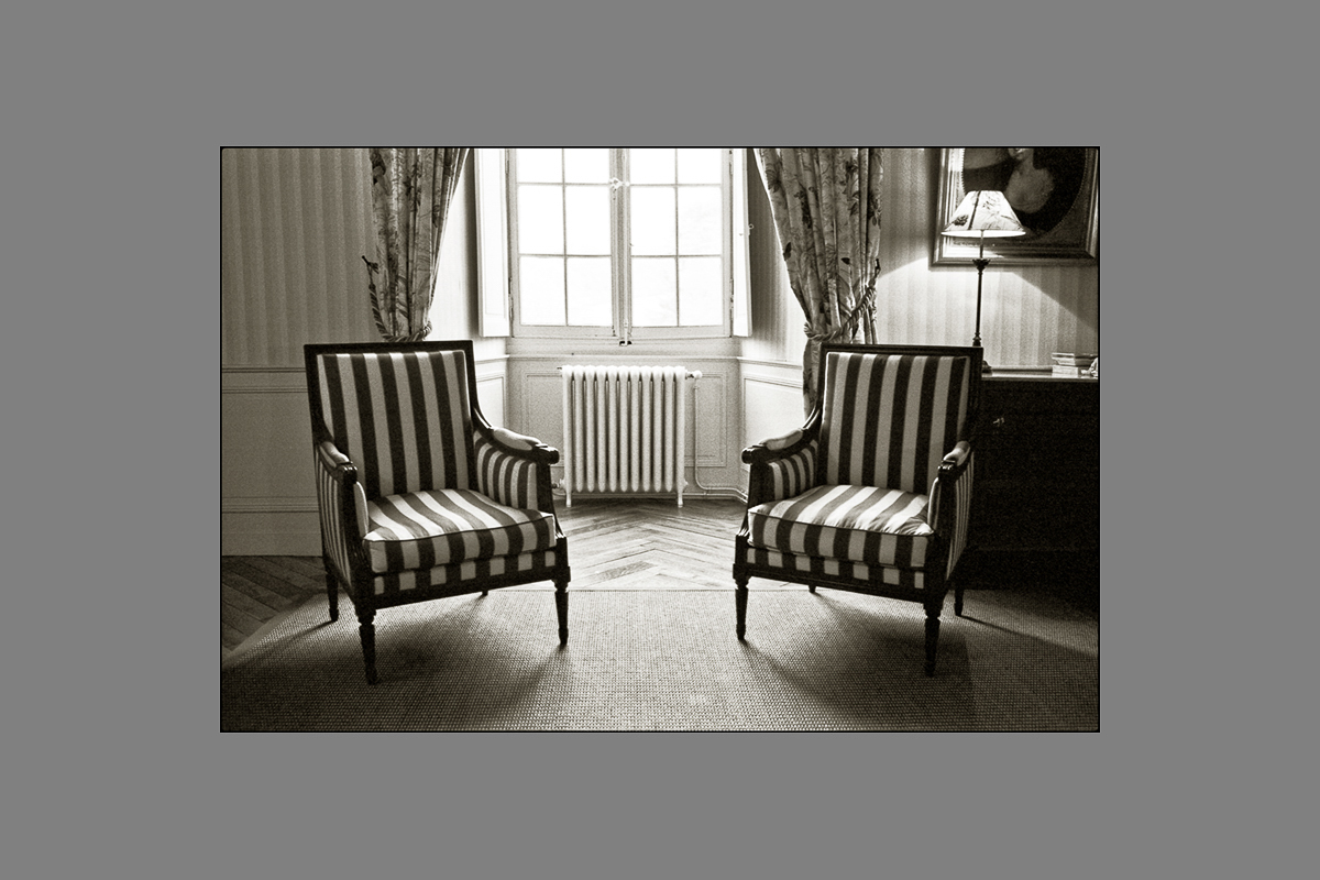 two chairs, chateau de reignac, 2011